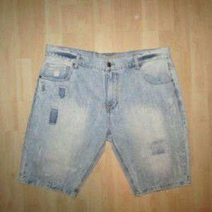Carbon Relaxed Denim Shorts